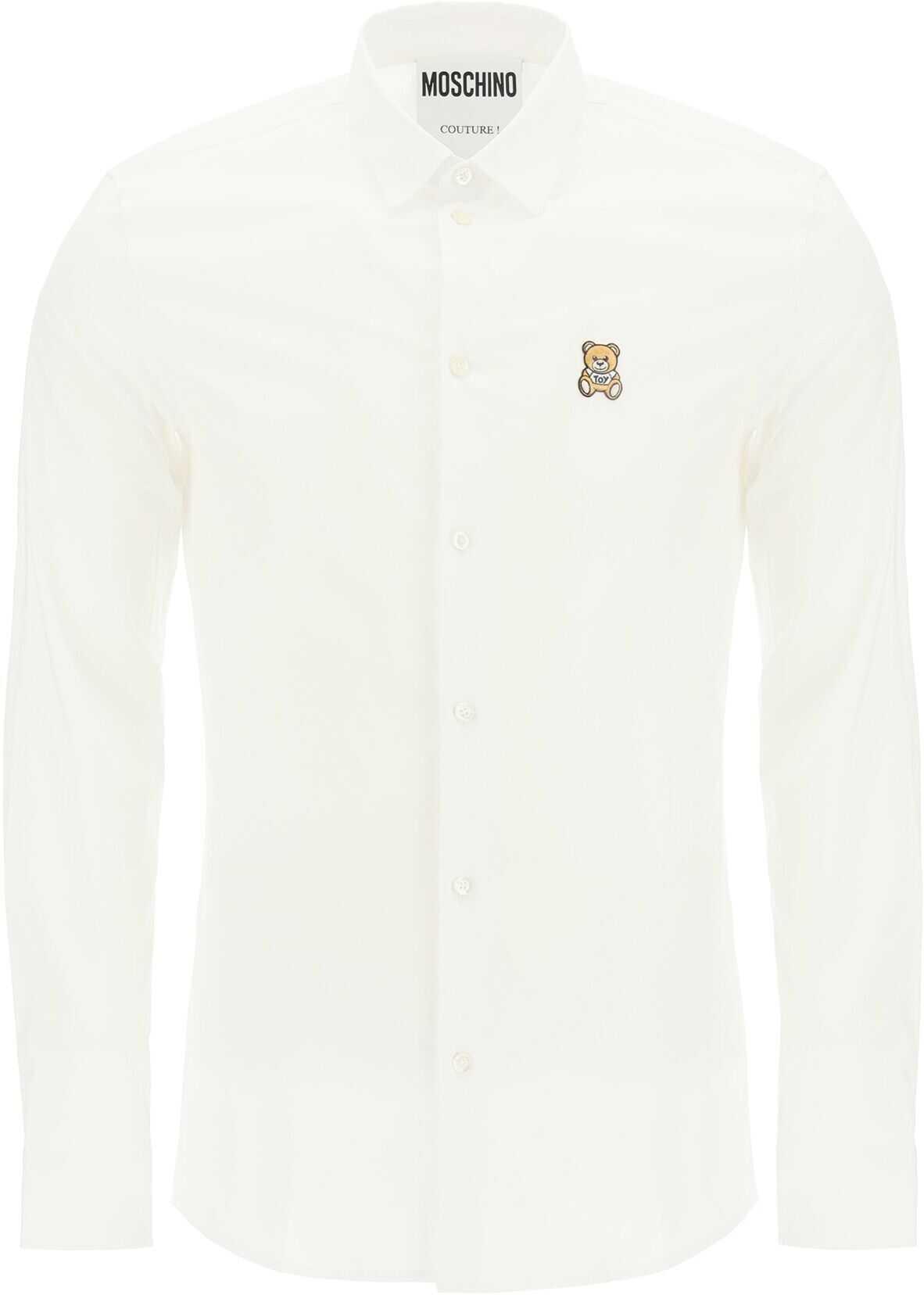 Moschino Teddy Bear Patch Shirt* FANTASIA BIANCO