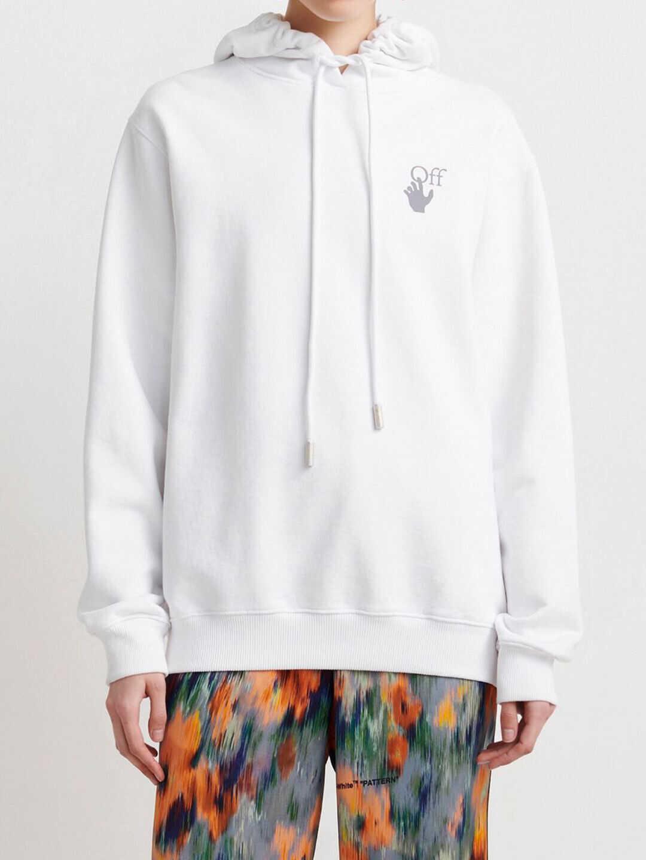 Off-White Oversized Arrows Sweatshirt OWBB035F21JER001 White image0
