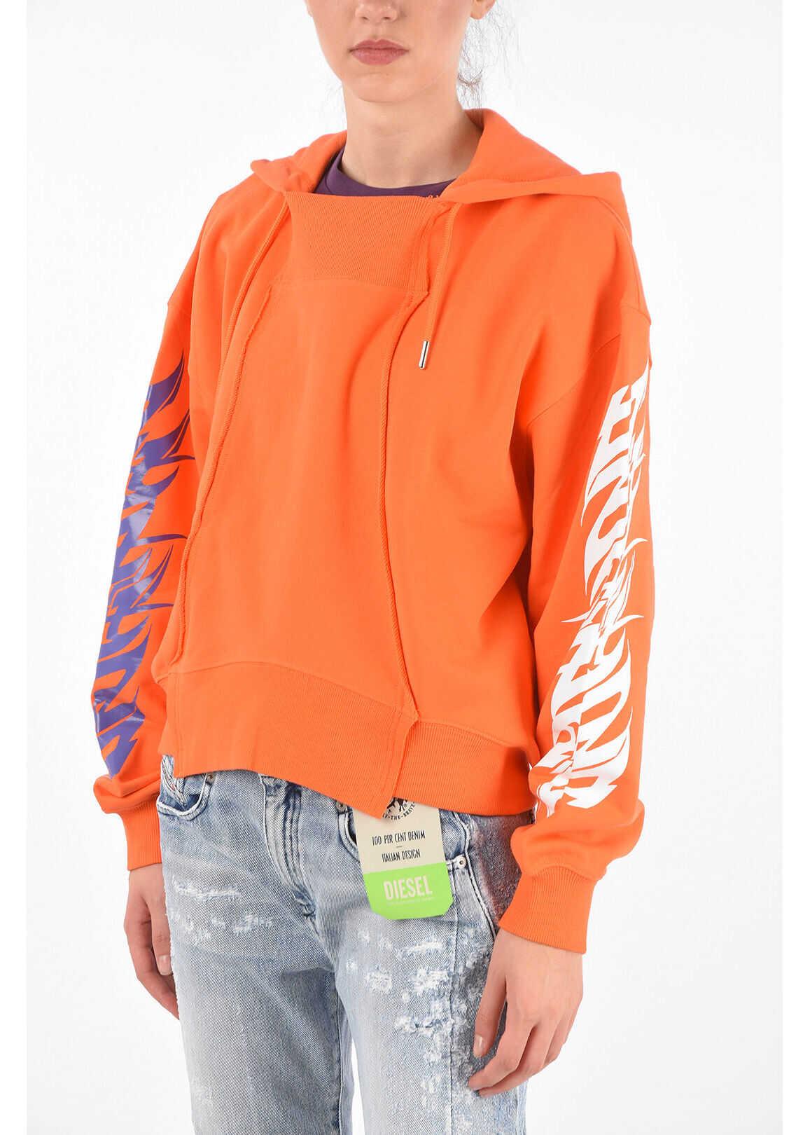 Diesel Hooded Kreen Sweatshirt Orange image0