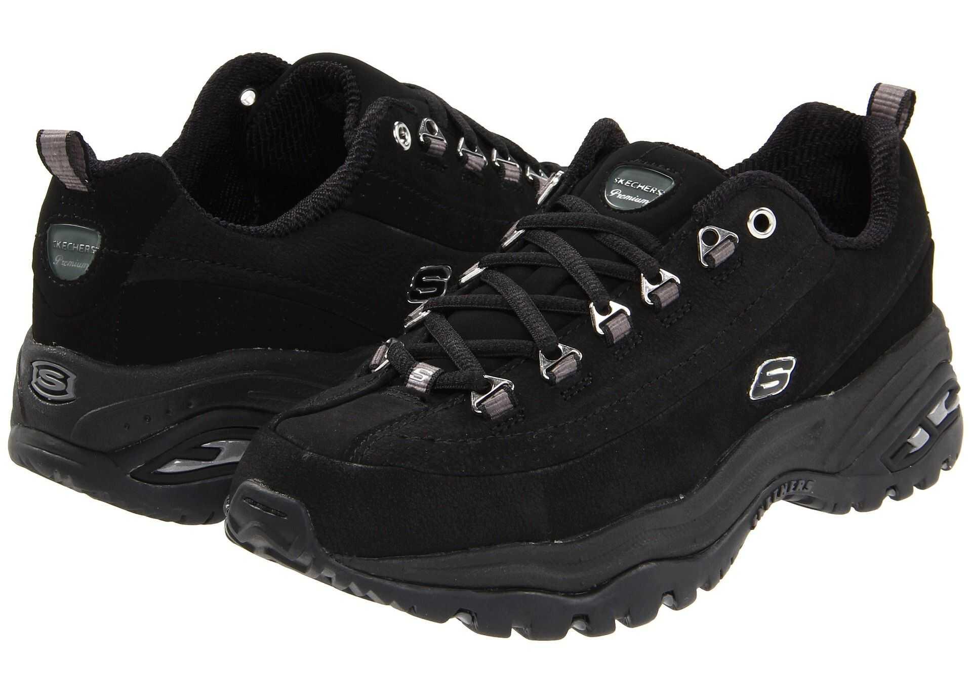 Pantofi Sport Femei Skechers Premium Black Nubuck