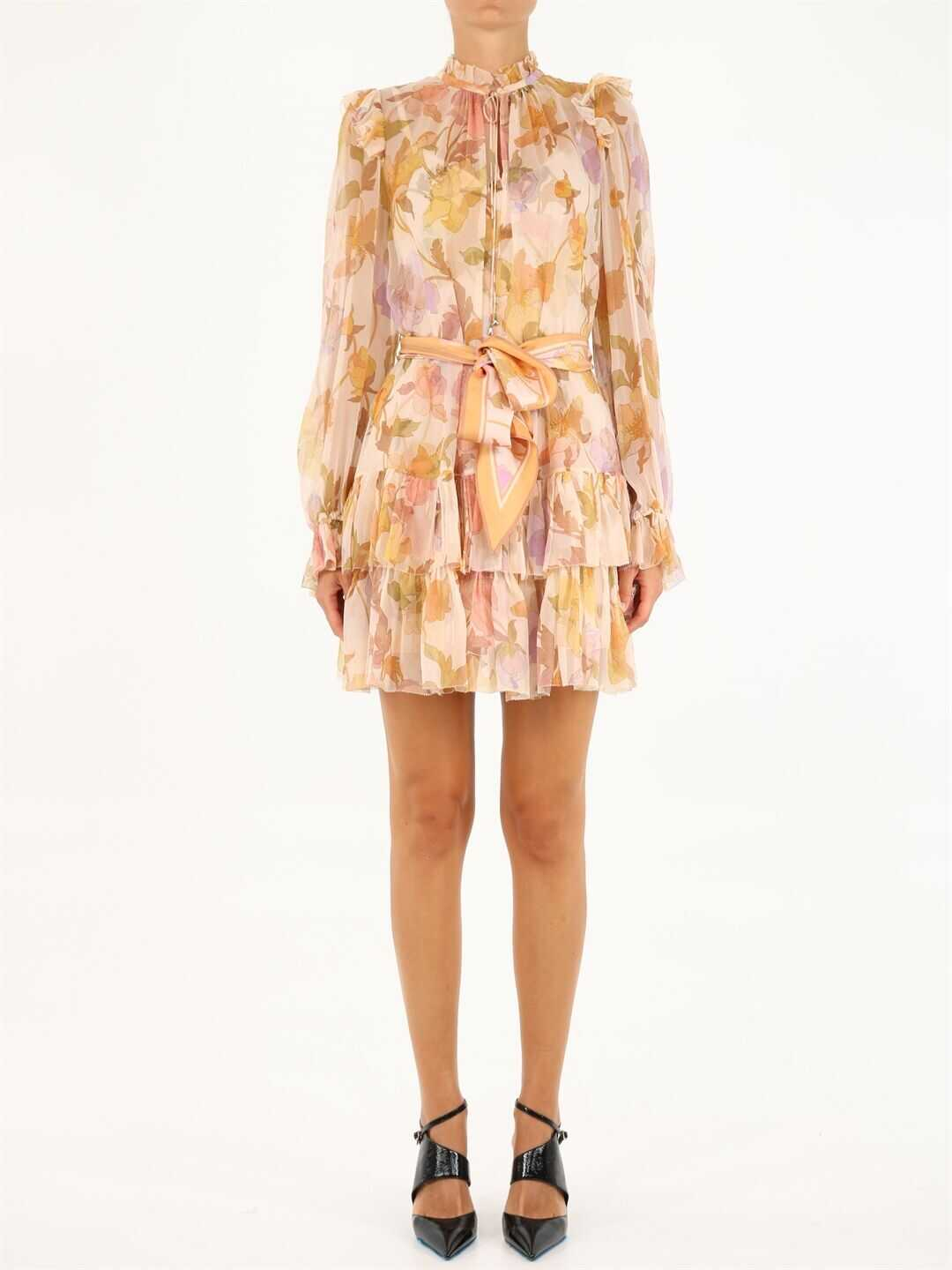 ZIMMERMANN Tempo Tiered Frill Mini Dress 2306DTEM Multicolor image0
