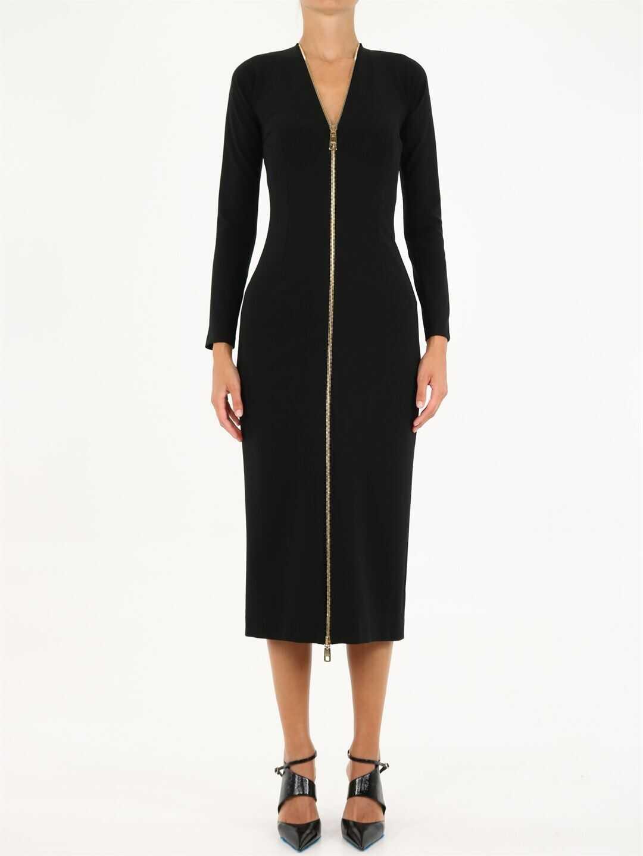 Dolce & Gabbana Long Dress With Zipper F6S5TT FUGKF Black image0