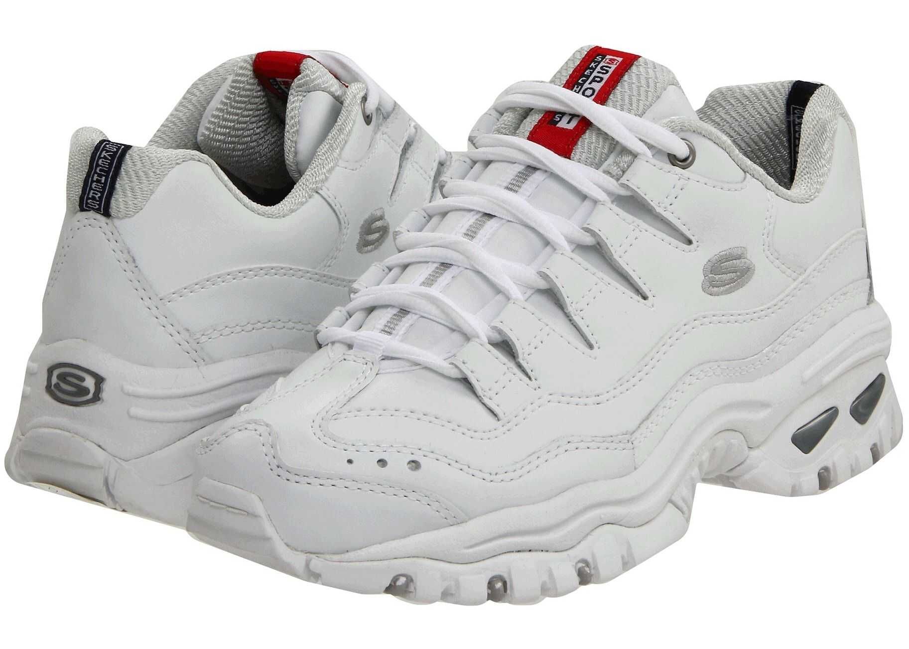 SKECHERS Energy White Mesh/Leather