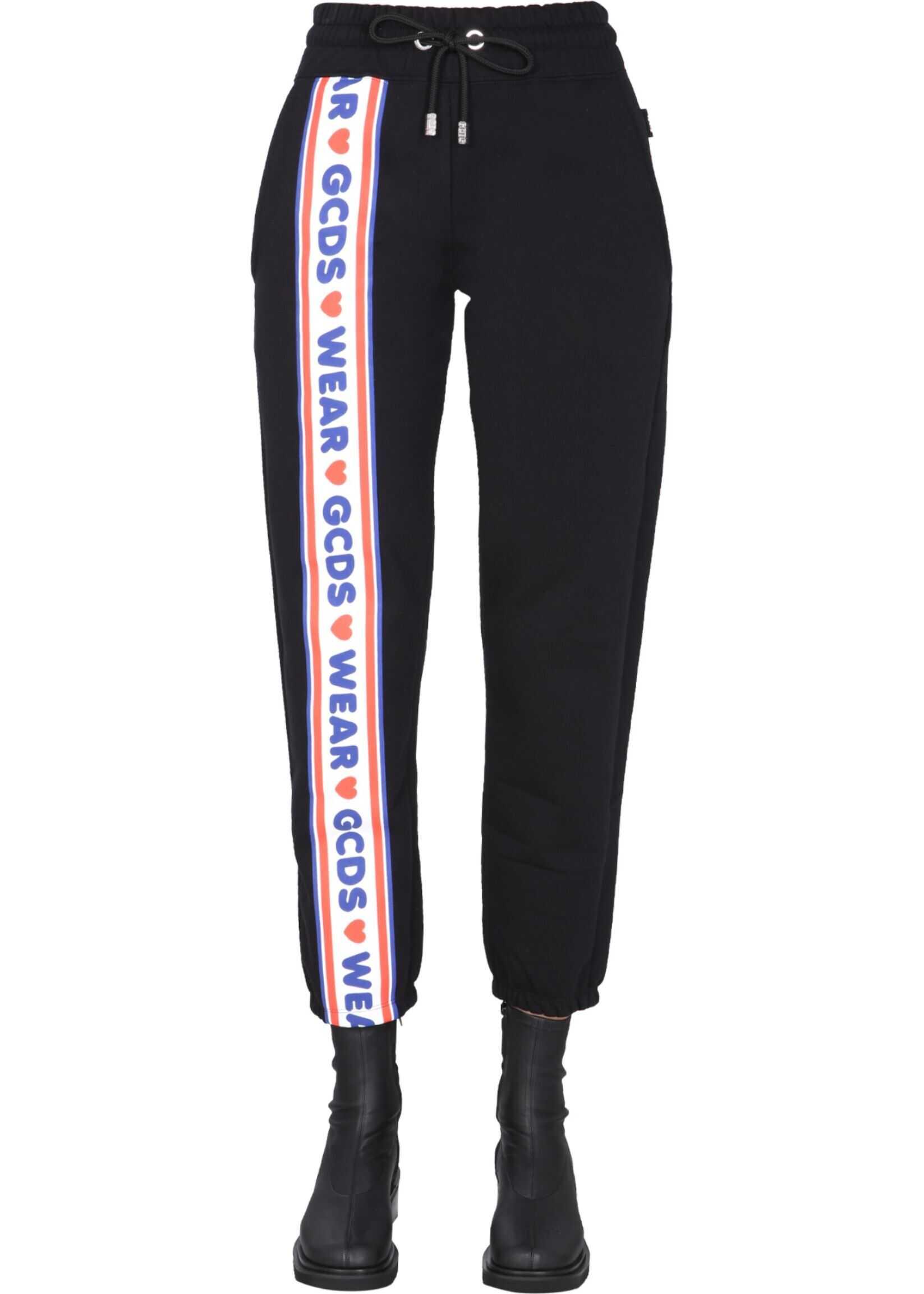 GCDS Jogging Pants With Logo CC94W031456_02 BLACK image0