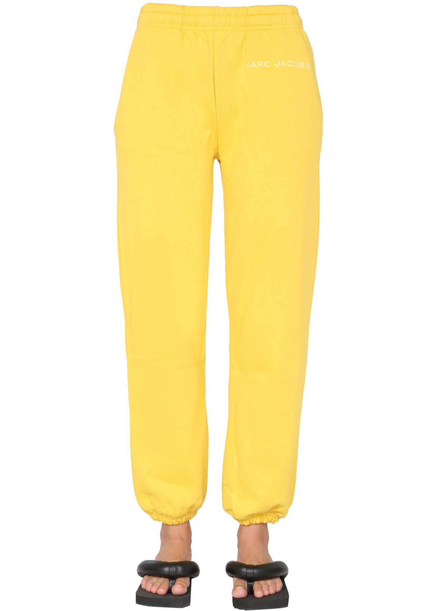 Marc Jacobs Jogging Pants With Embroidered Logo C412C05PF21_732 YELLOW image0