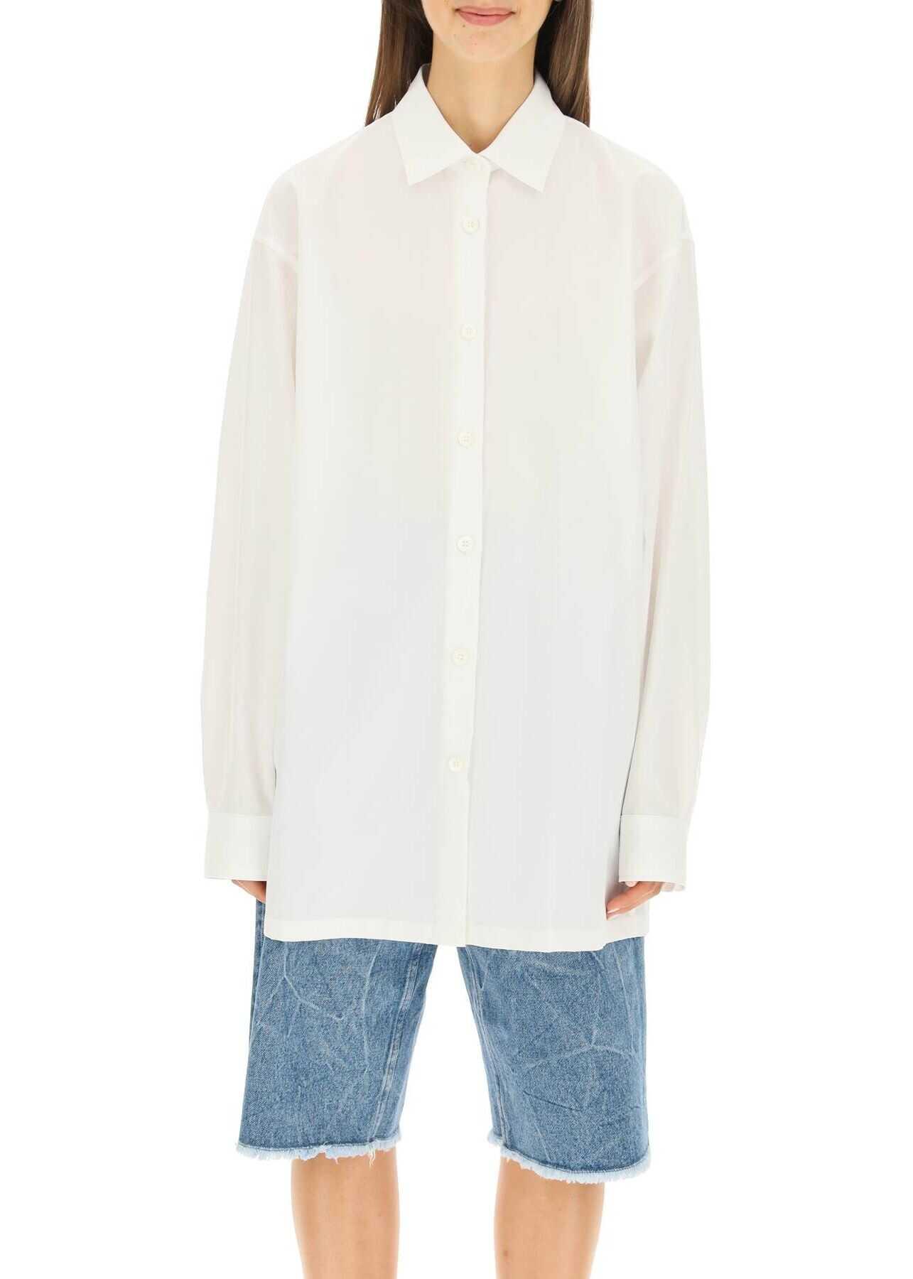 Dries Van Noten Boyfriend Poplin Shirt CASSIDO 3169 WHITE image0