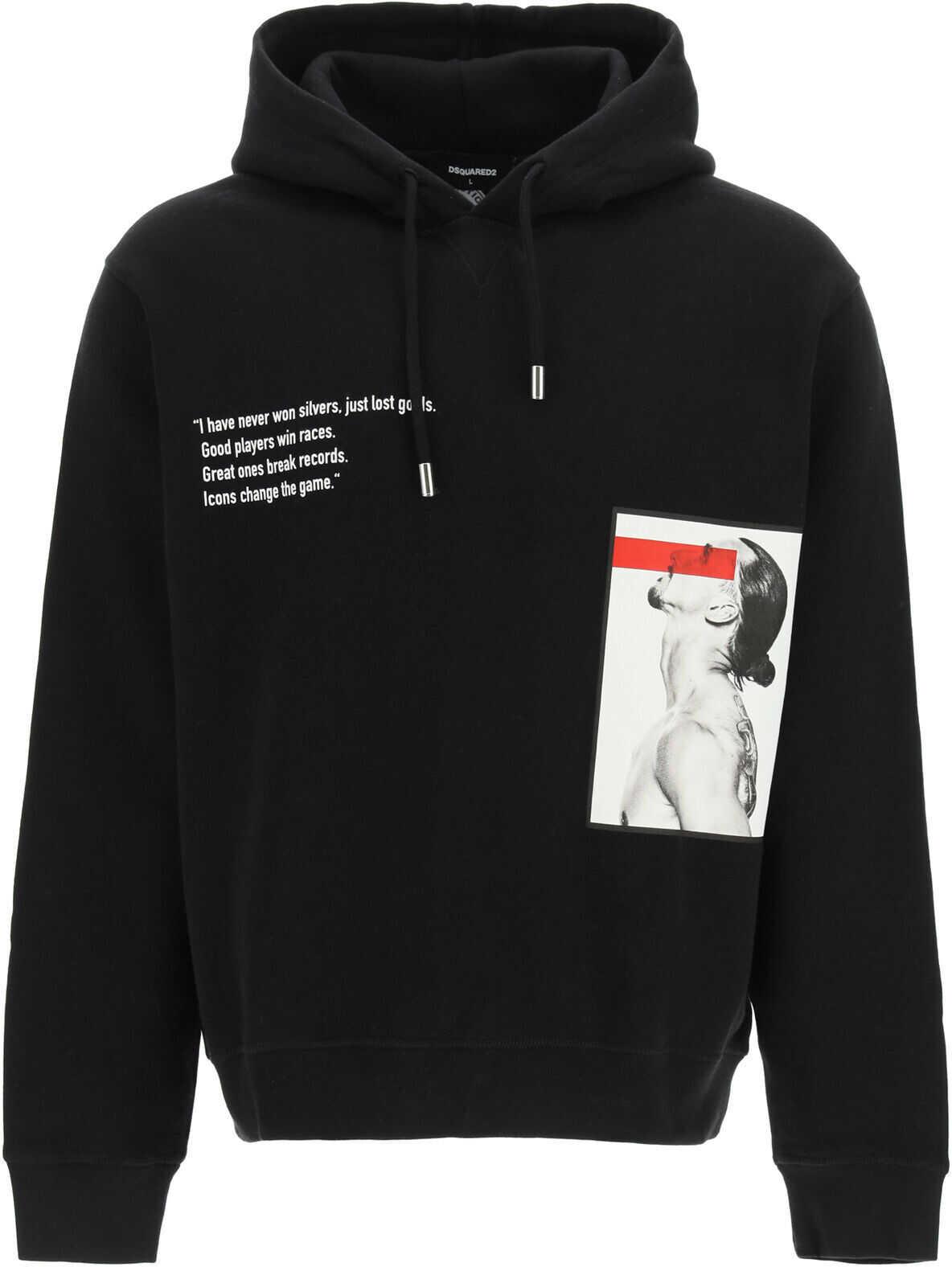 DSQUARED2 Hoodie Logo Sweatshirt* BLACK