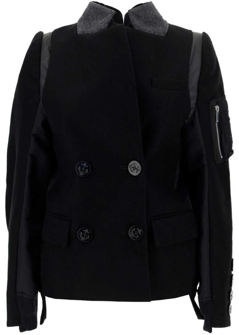 Sacai Jacket 2105837 BLACK image0