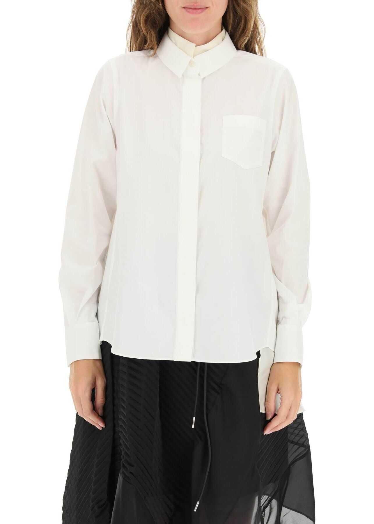 Sacai Shirt With Asymmetric Panel 21 05827 WHITE image0