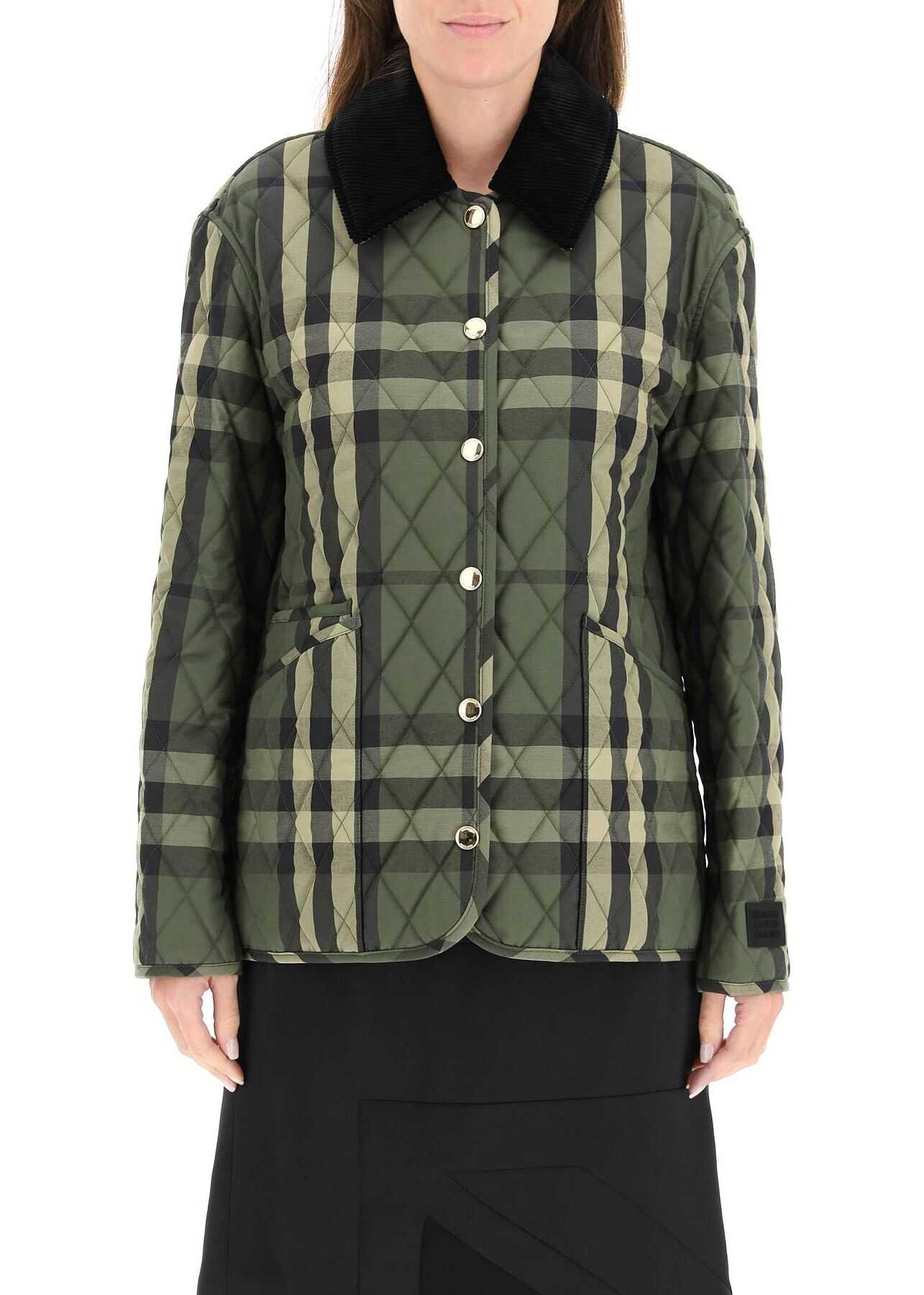 Burberry Dranefeld Quilted Jacket 8043199 DARK MILITARY GREEN image0
