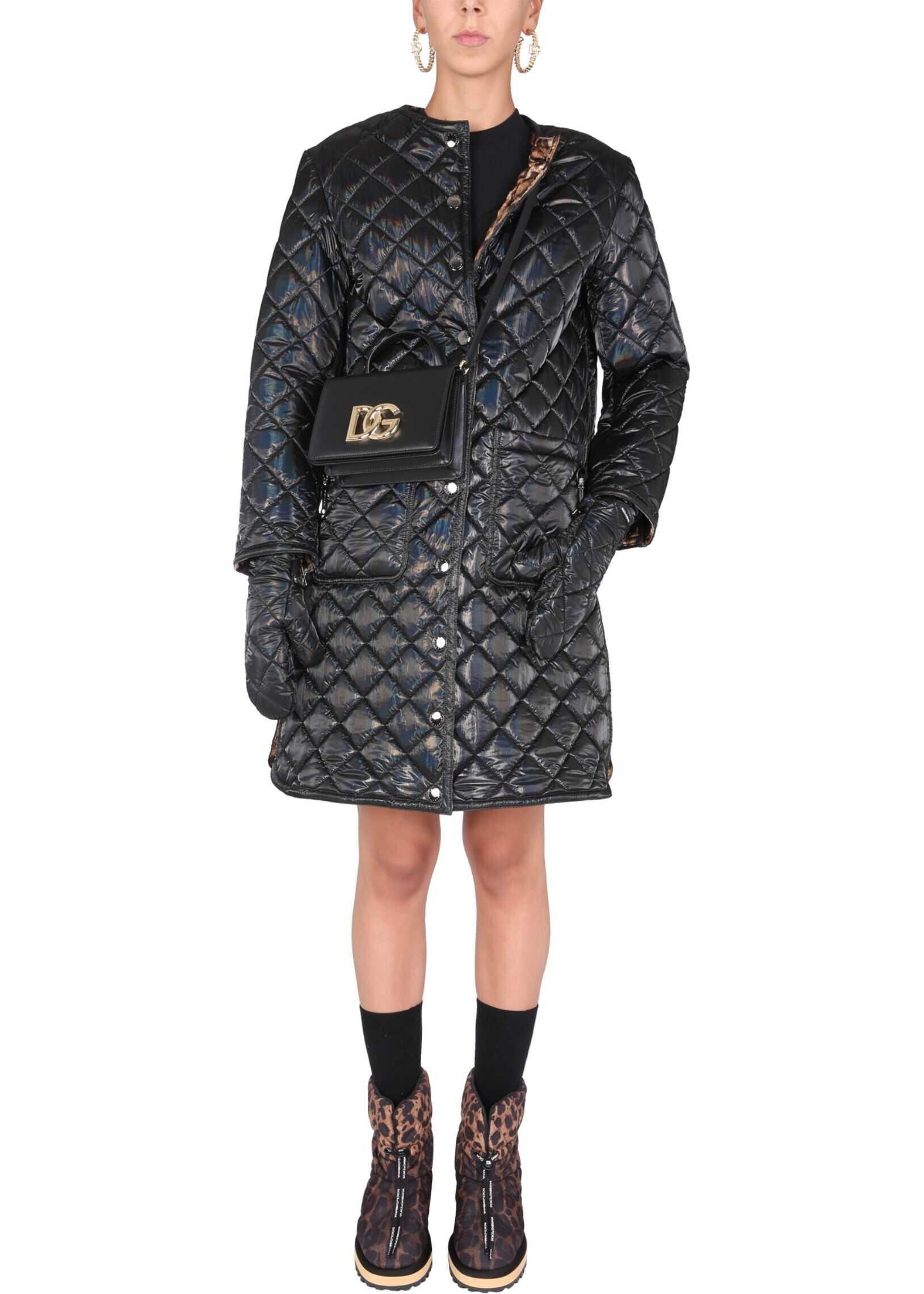 Dolce & Gabbana Matelasse Canvas Coat F0AR5T_FUSOHN0000 BLACK image0