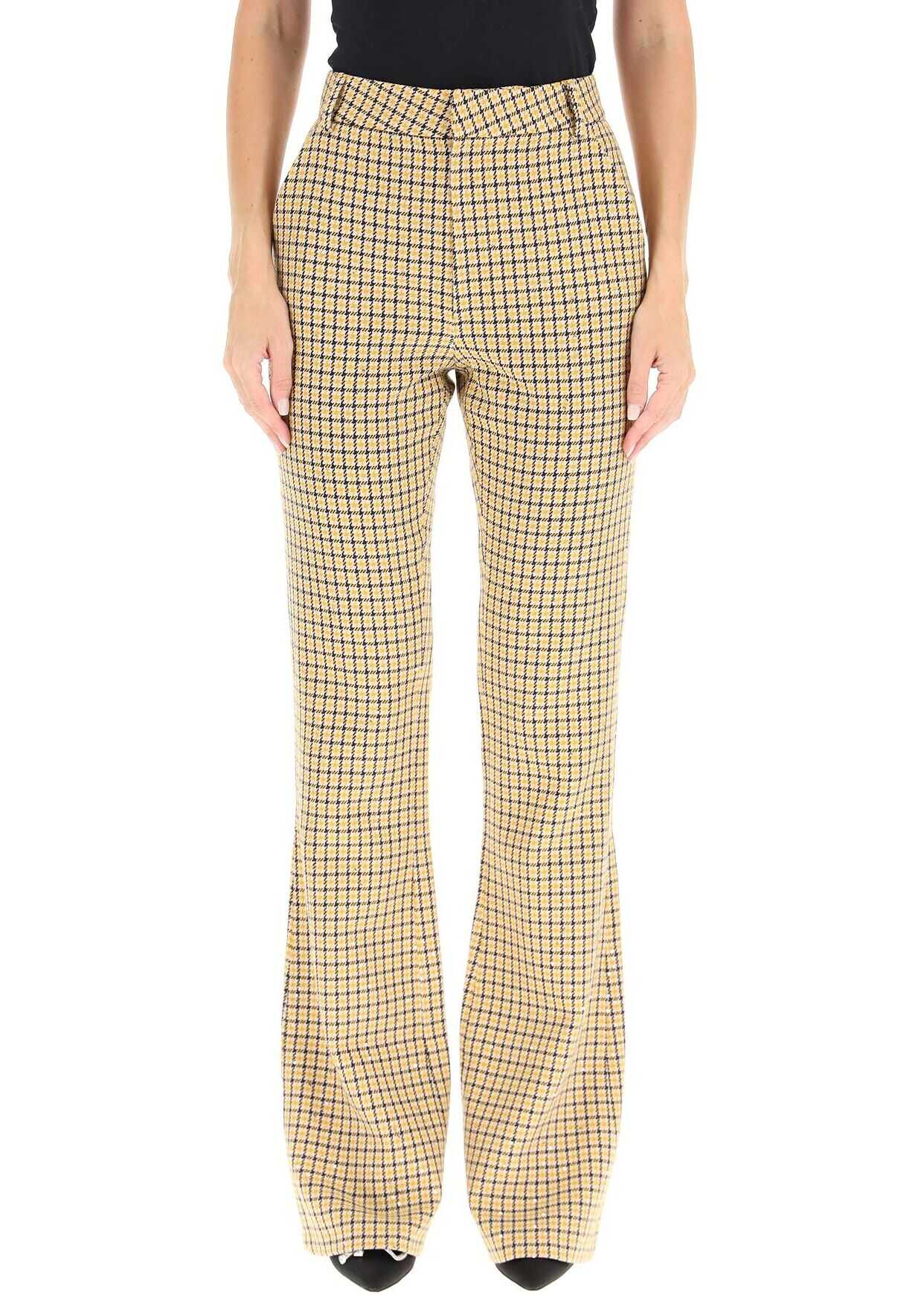 Alessandra Rich Sequined Bootcut Trousers FAB2655 F3315 YELLOW image0