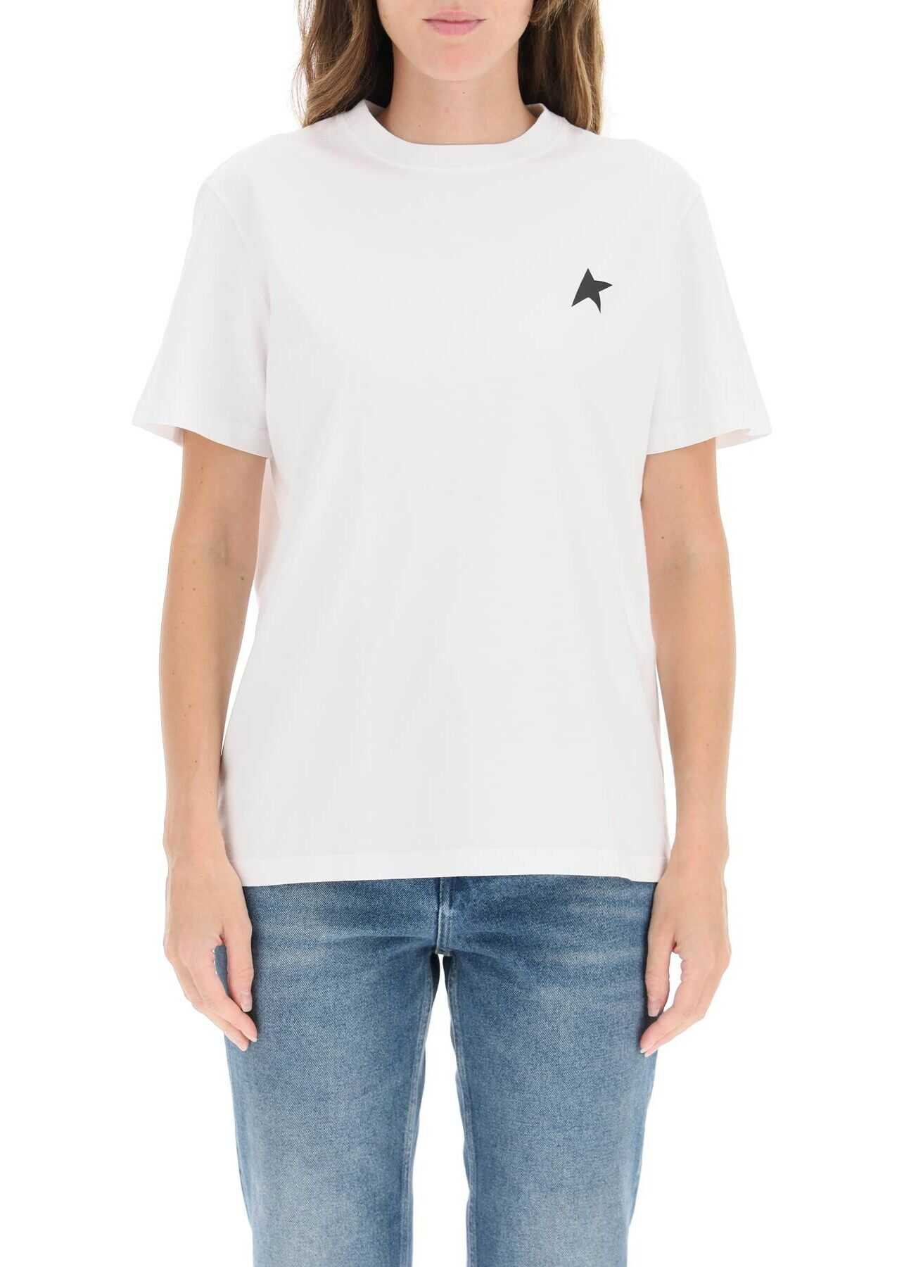 Golden Goose Star Collection T-Shirt With Star GWP00880 P000593 OPTIC WHITE BLACK image0