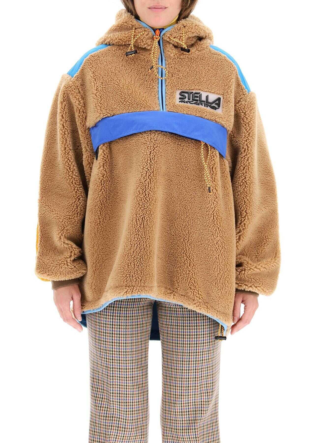 Stella McCartney Marlee Jacket In Teddy Mat 603726 SSB03 BISCUIT image0