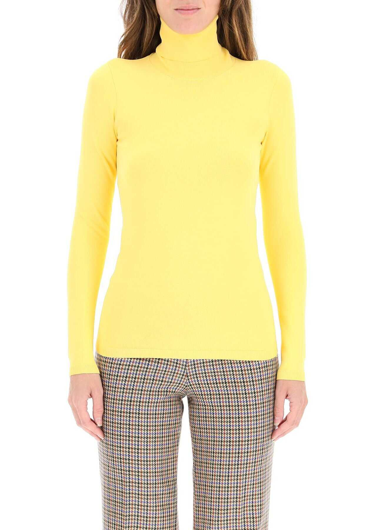 Stella McCartney Turtleneck Sweater In Compact Knit 601794 S2076 PALE YELL image0
