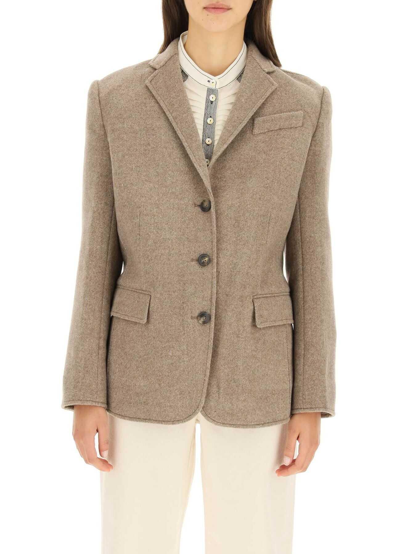 Tory Burch Wool Blazer 84314 ASHED MOCHA image0