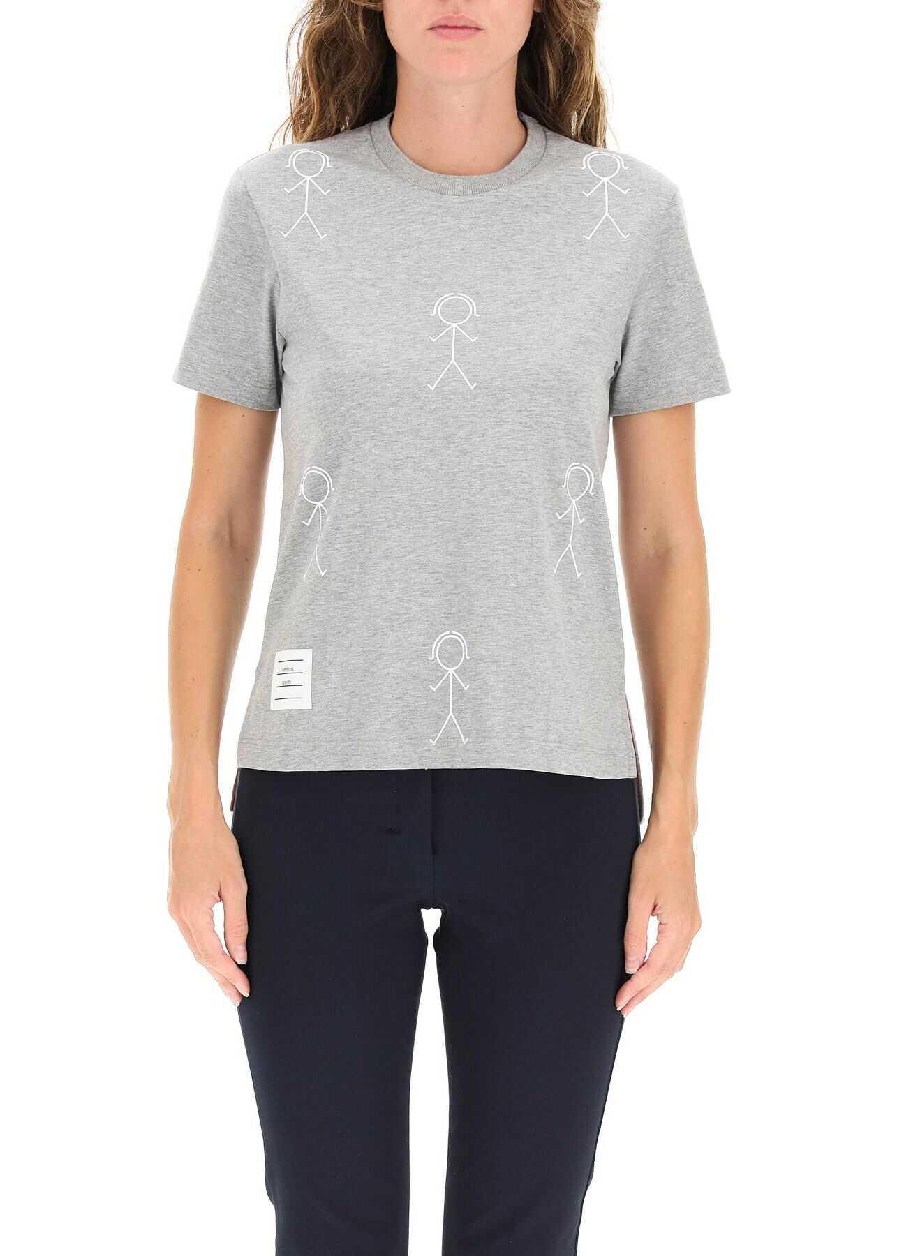 Thom Browne Mr. Thom Icon Print T-Shirt FJS099A07656 LIGHT GREY image0
