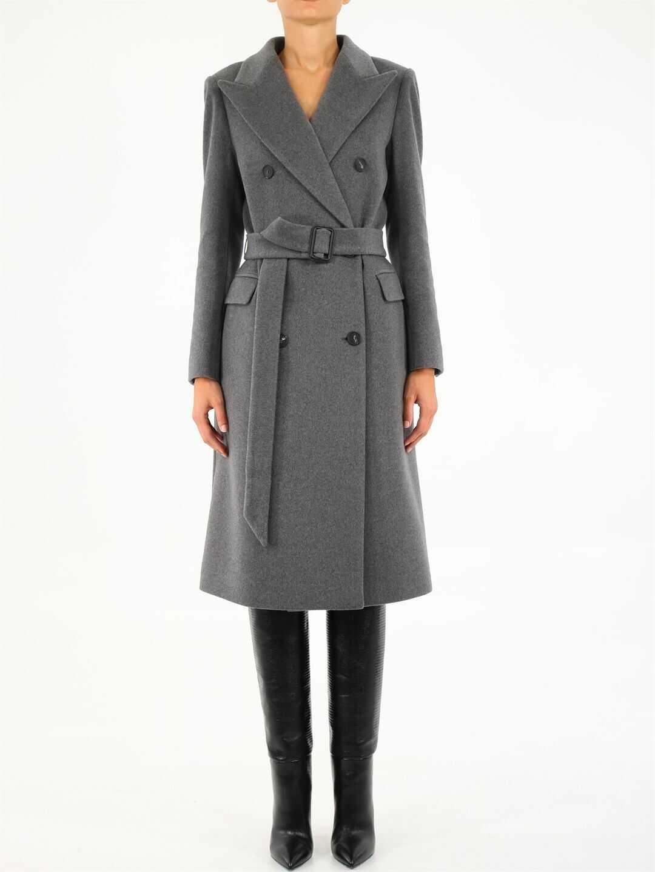 Tagliatore Jole Gray Double-Breasted Coat JOLE 350002 Grey image0