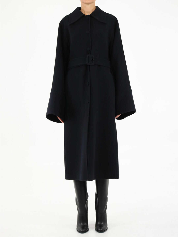 Jil Sander Dark Wool Coat JSWT475185 WT200503 Blue image0