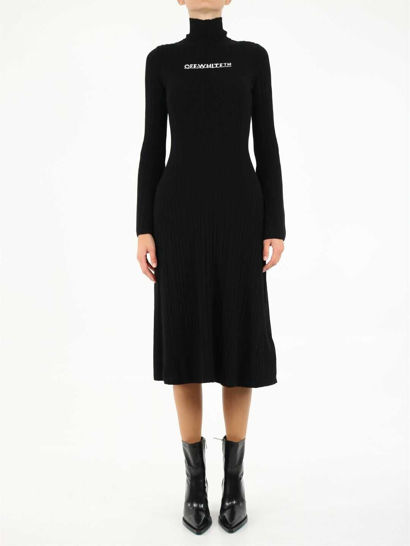 Off-White Knit Dress With Logo OWHI047F21KNI001 Black image0