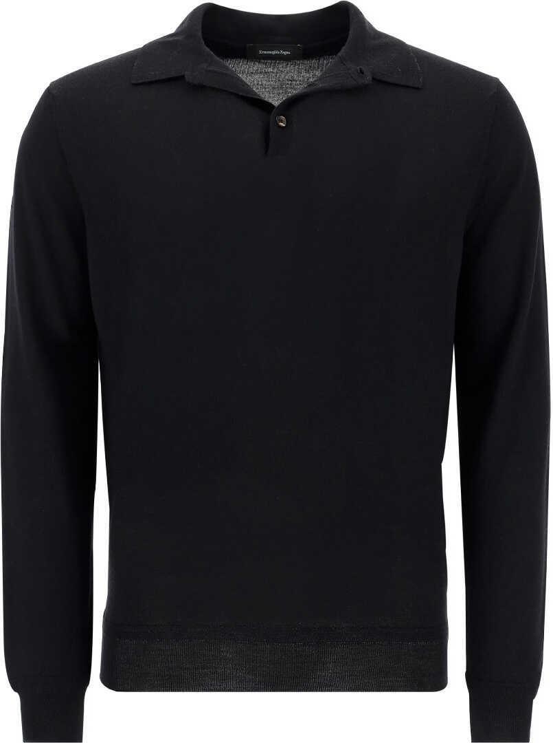 Ermenegildo Zegna Polo Shirt UYT91132 NERO UNITO image0