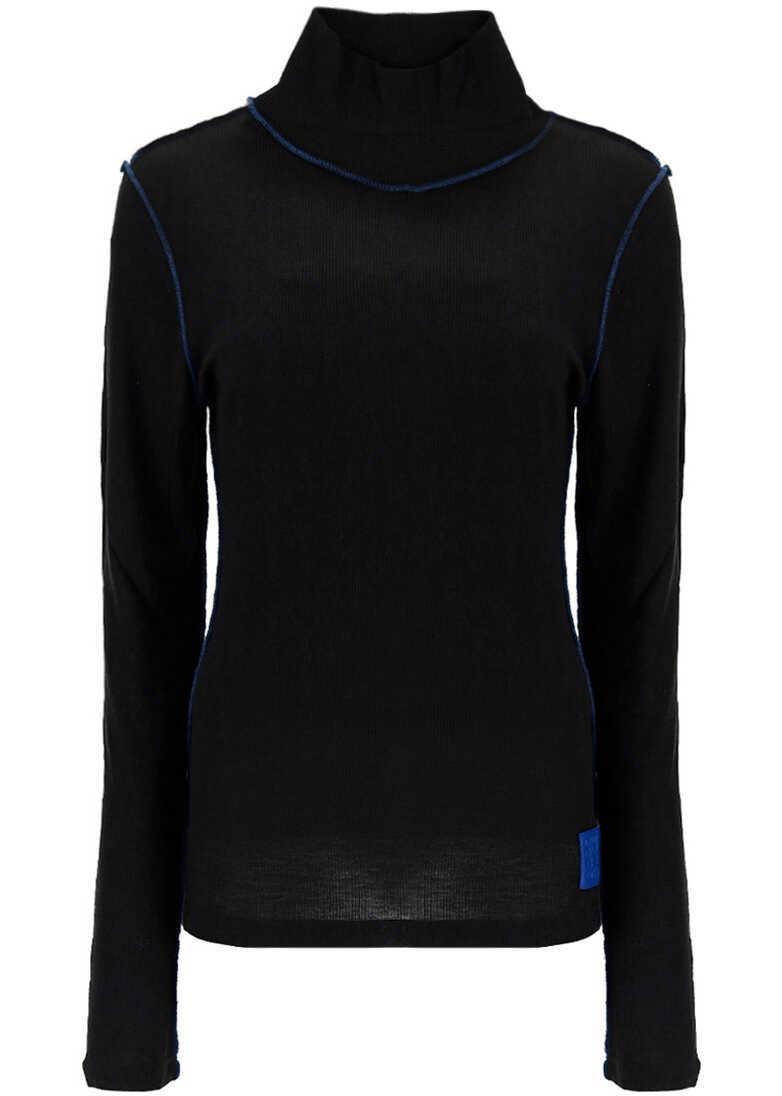 Loewe High Neck Top S540Y07X60 BLACK/BLUE image0