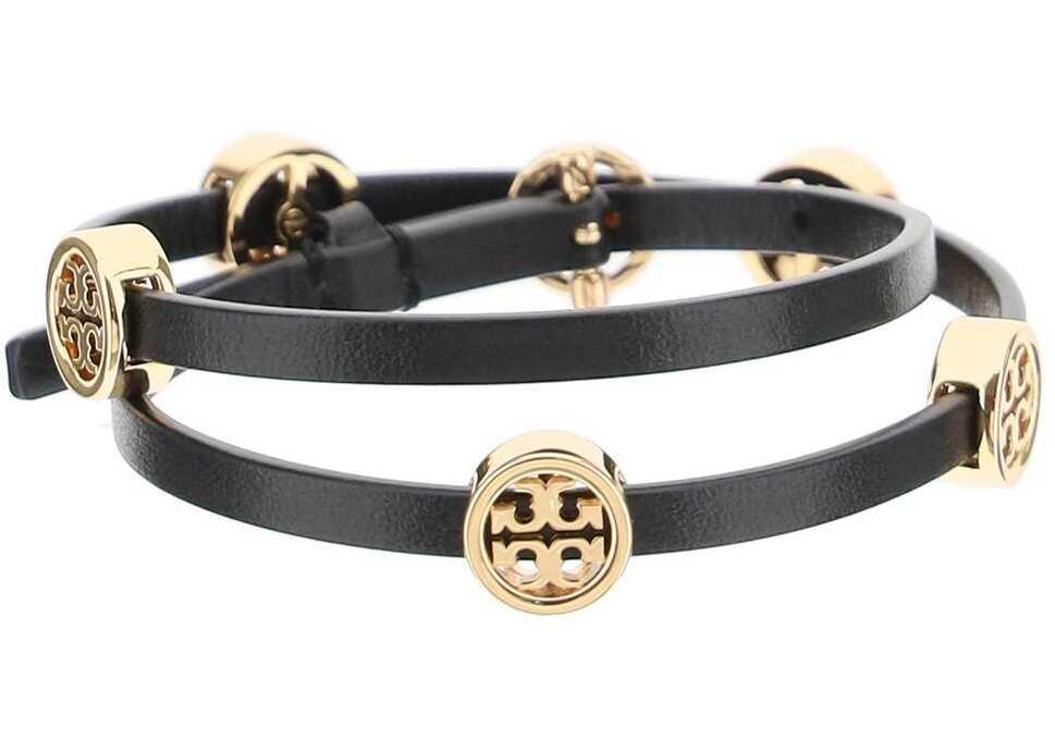 Tory Burch Miller Double Wrap Bracelet 82720 TORY GOLD BLACK image0