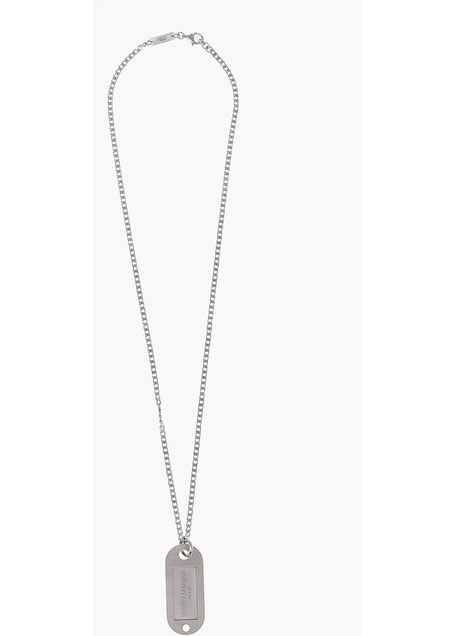 Maison Margiela Mm11 Silver Necklace With Pendant Silver image0