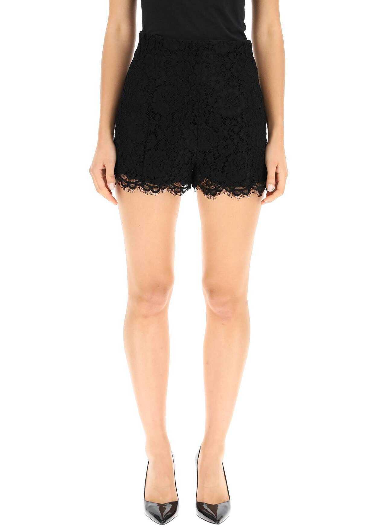 RED VALENTINO Lace Shorts WR0RF00T66B NERO image0