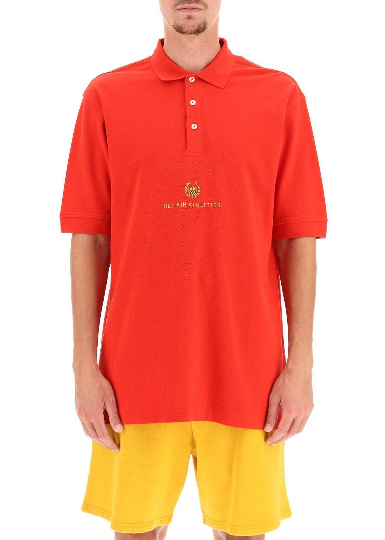 Bel-Air Athletics Academy Crest Polo Shirt 31BELM702 216754 RED image0