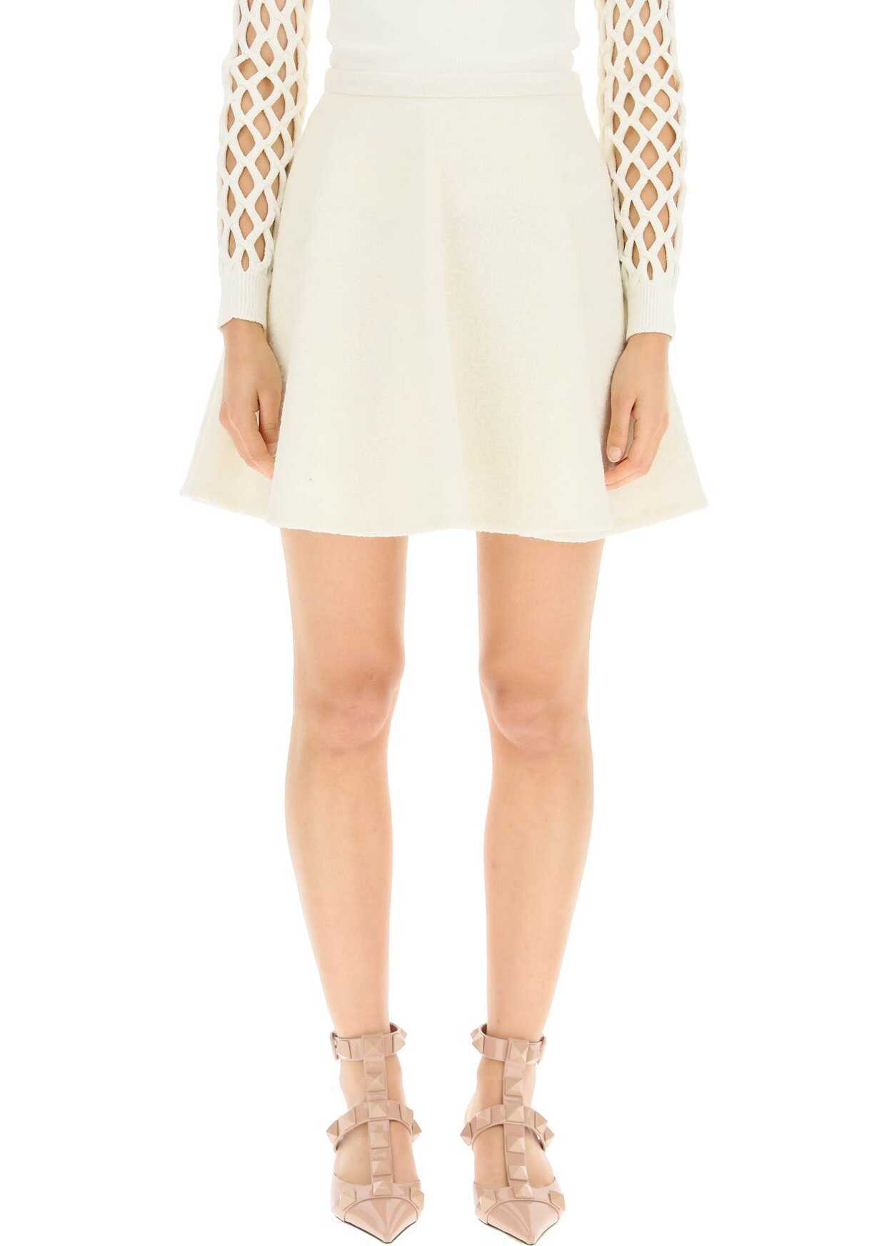 Valentino Garavani Boucle' Couture Mini Skirt WB0RA8826R6 AVORIO image0