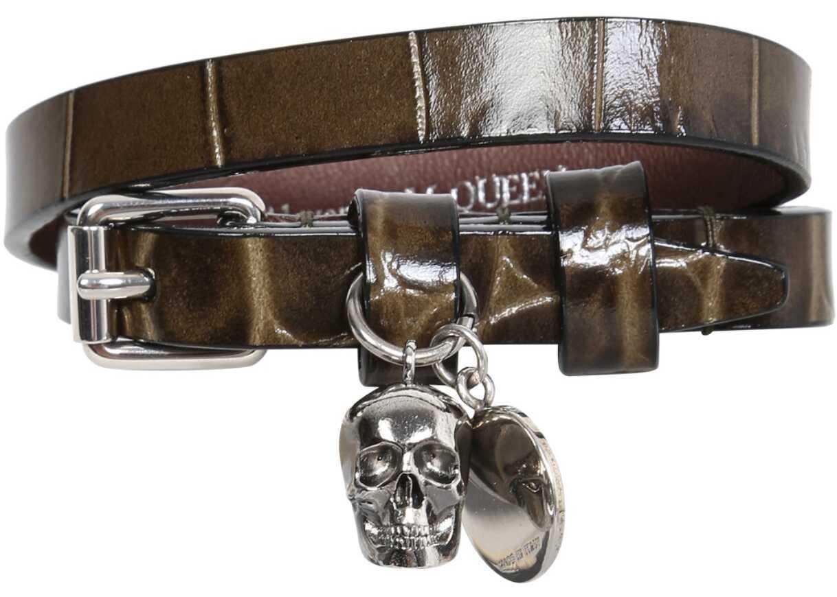 Alexander McQueen Double Turn Bracelet 630990_1JM123205 BROWN image0