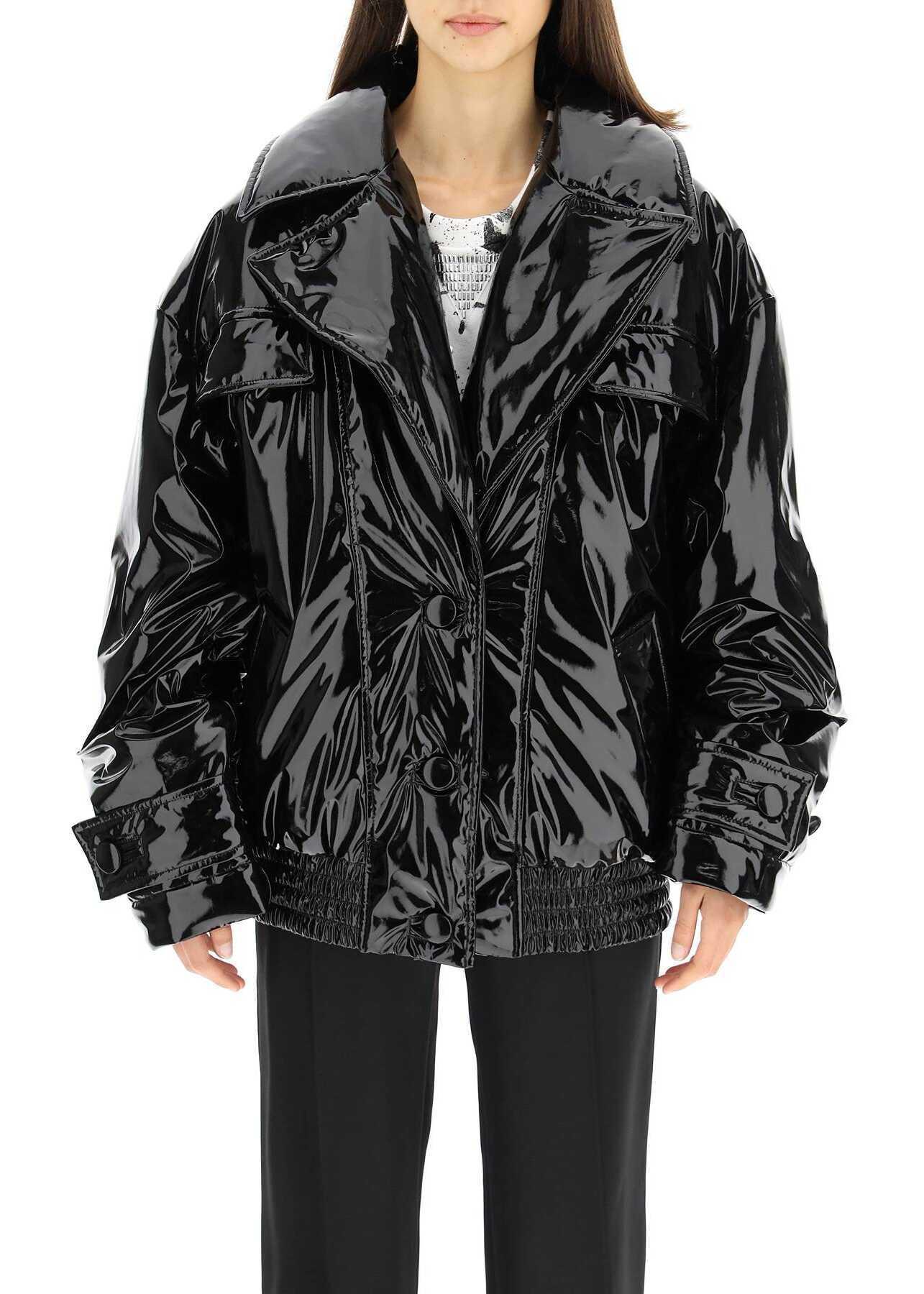 Dolce & Gabbana Patent Leather Jacket F9K07T FUSJQ NERO image0