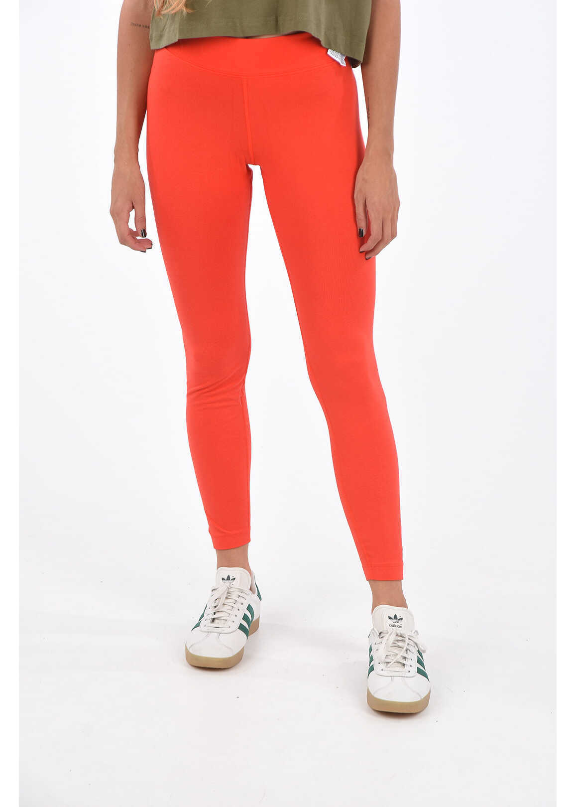 Nike Stretch Cotton Leggings Red image0