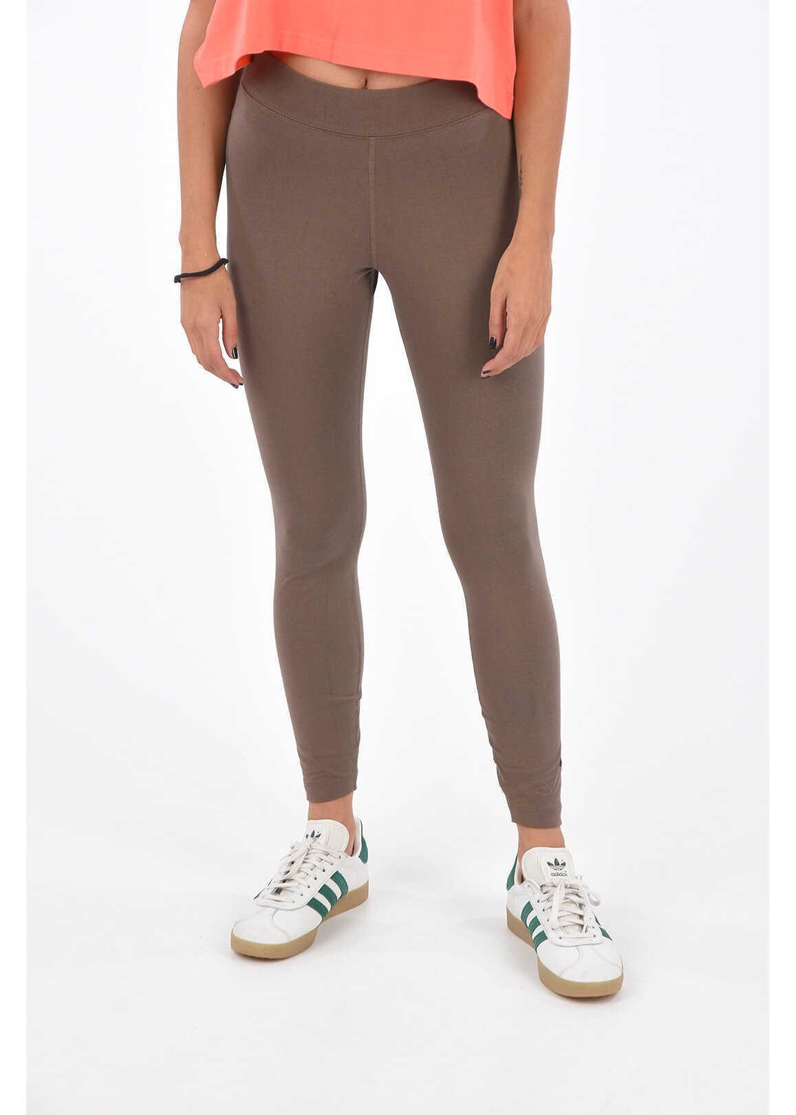 Nike Stretch Cotton Leggings Brown image0
