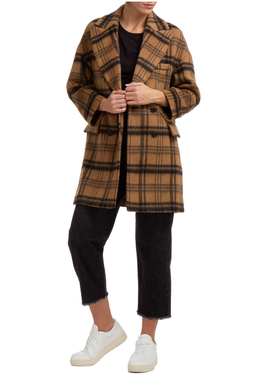 RED VALENTINO Coat Overcoat WR0CAD90650954 Brown image0