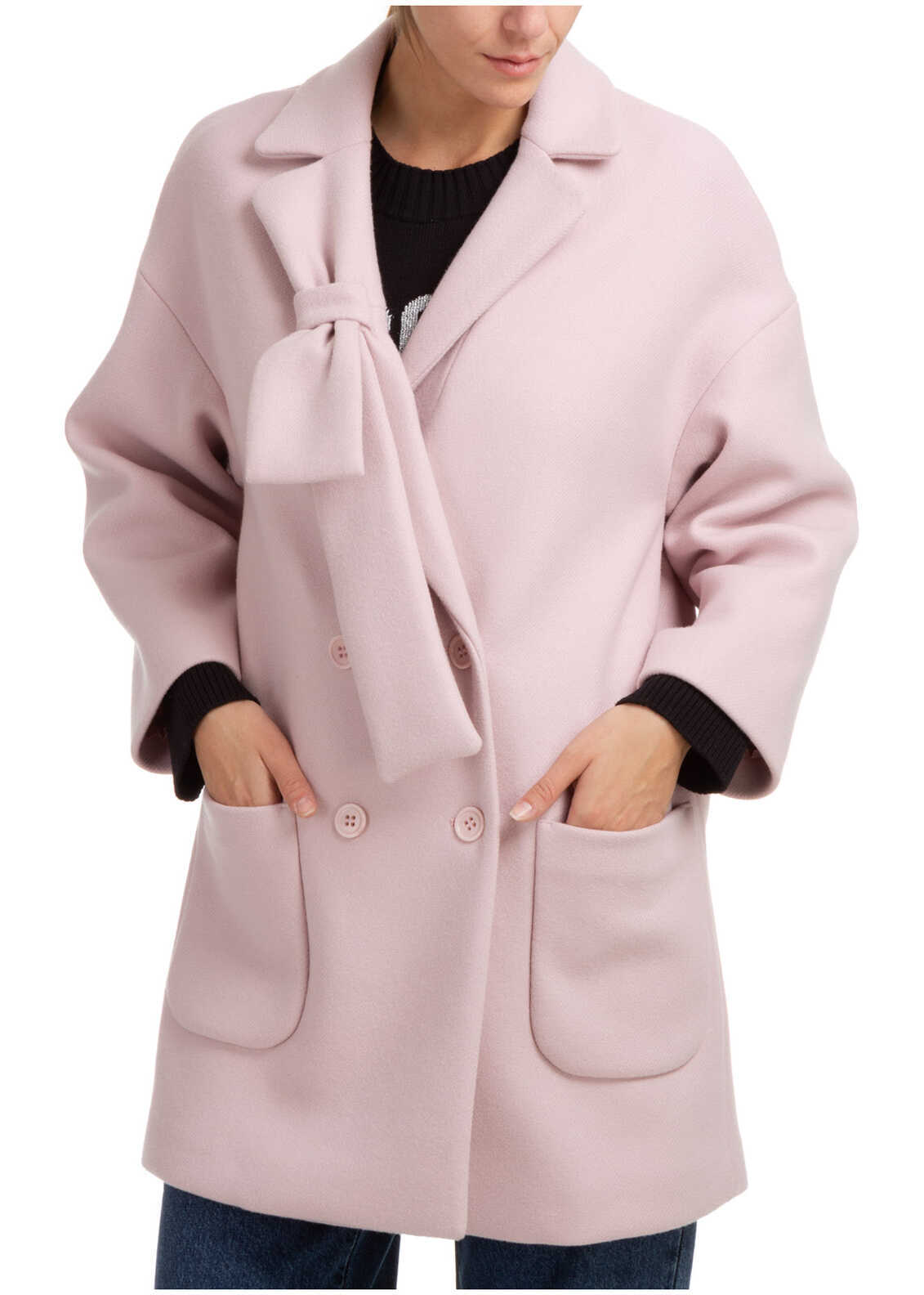 RED VALENTINO Coat Overcoat WR3CAD605Y6R13 Pink image0