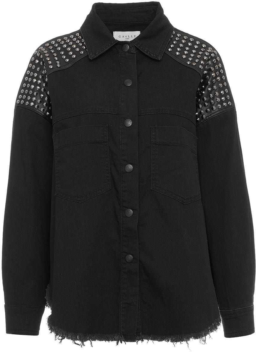 GAeLLE Paris Shirt with studded shoulder pads Black image0
