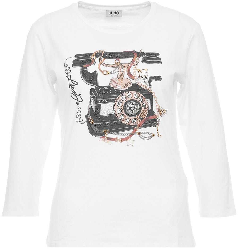 Liu Jo T-shirt with logo and rhinestones White image0