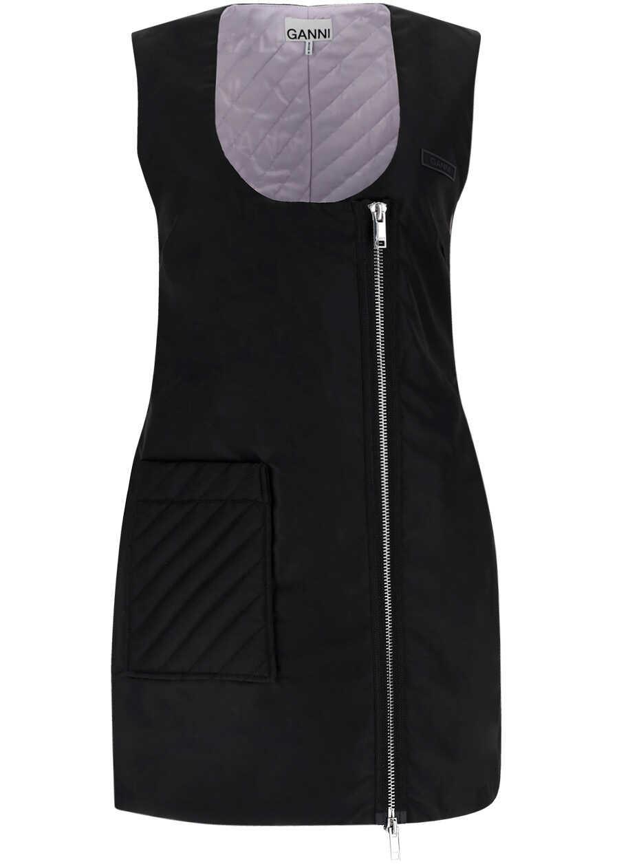 Ganni Jacket Dress F6433 BLACK image0