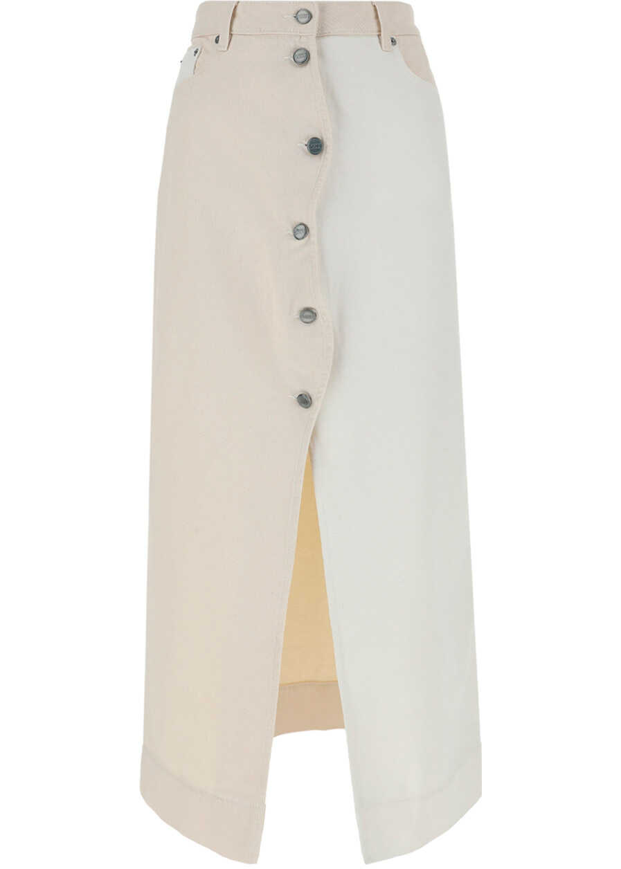 Ganni Long Skirt F6150 VANILLA ICE image0