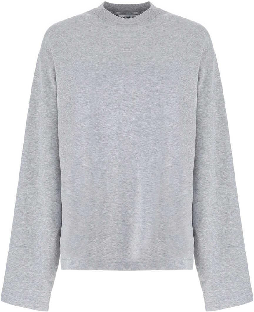 Balenciaga T-Shirt 675050TLVA6 HEATHER GREY/RED image0