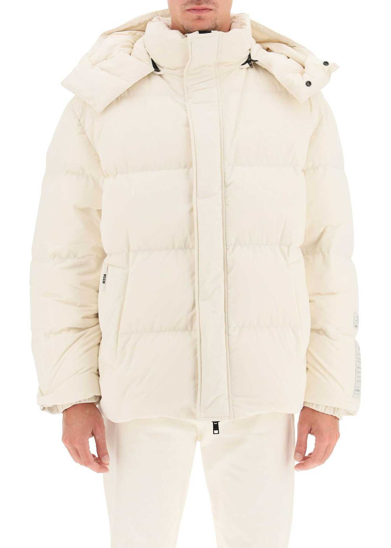 MSGM Fantastic Green Oversized Down Jacket 3140MH191X 217704 OFF WHITE image0