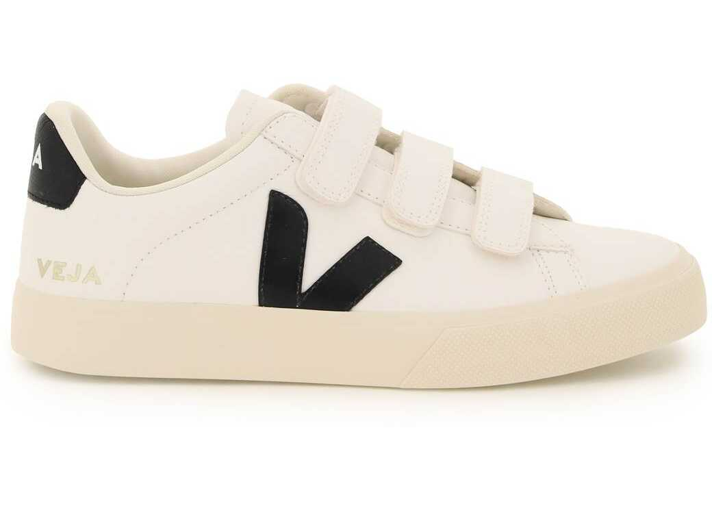 VEJA Chromefree Leather Recife Sneakers RC052693A EXTRA WHITE BLACK image0
