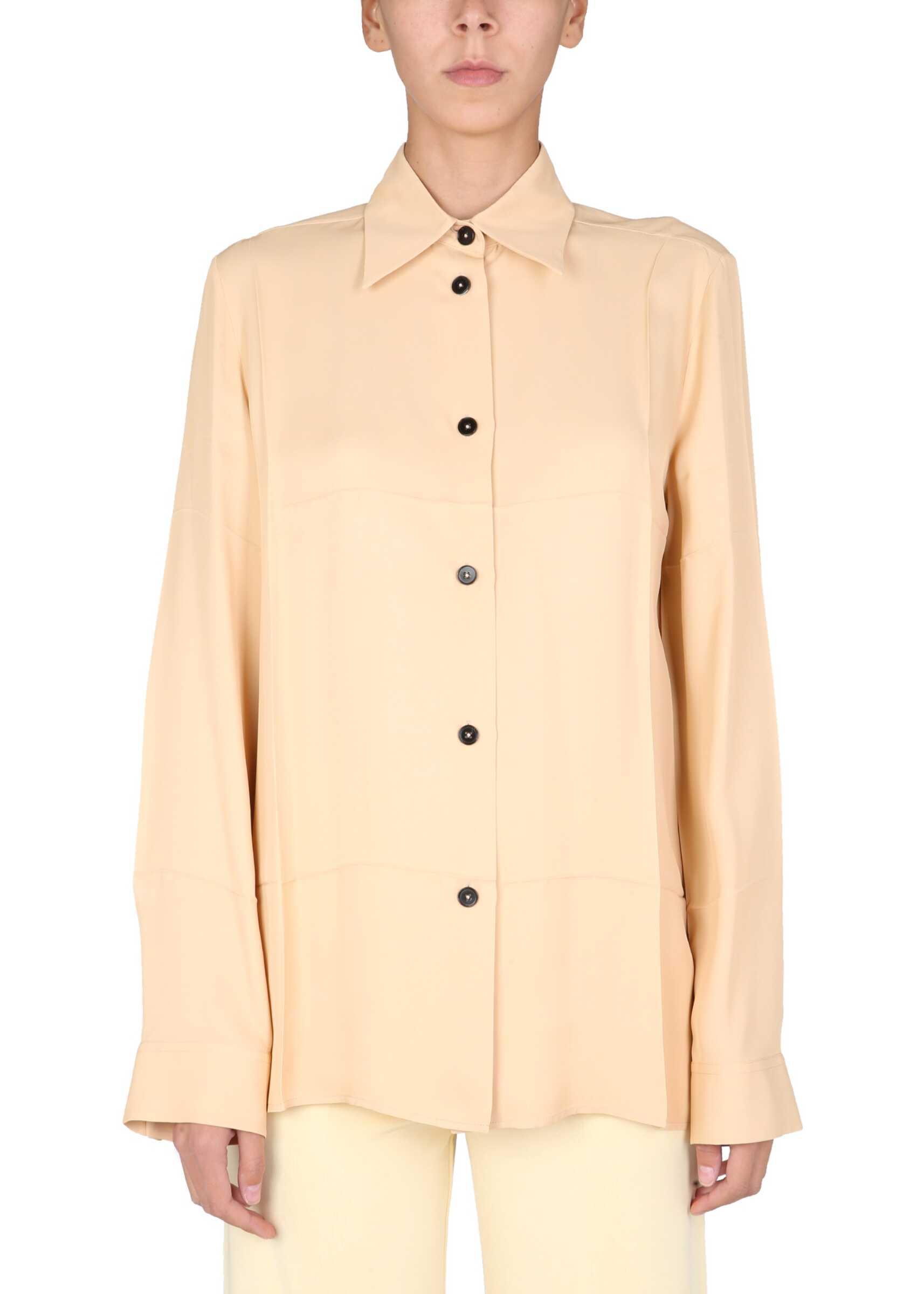 Jil Sander Boxy Fit Shirt JSWT605306_WT381500239 NUDE image0