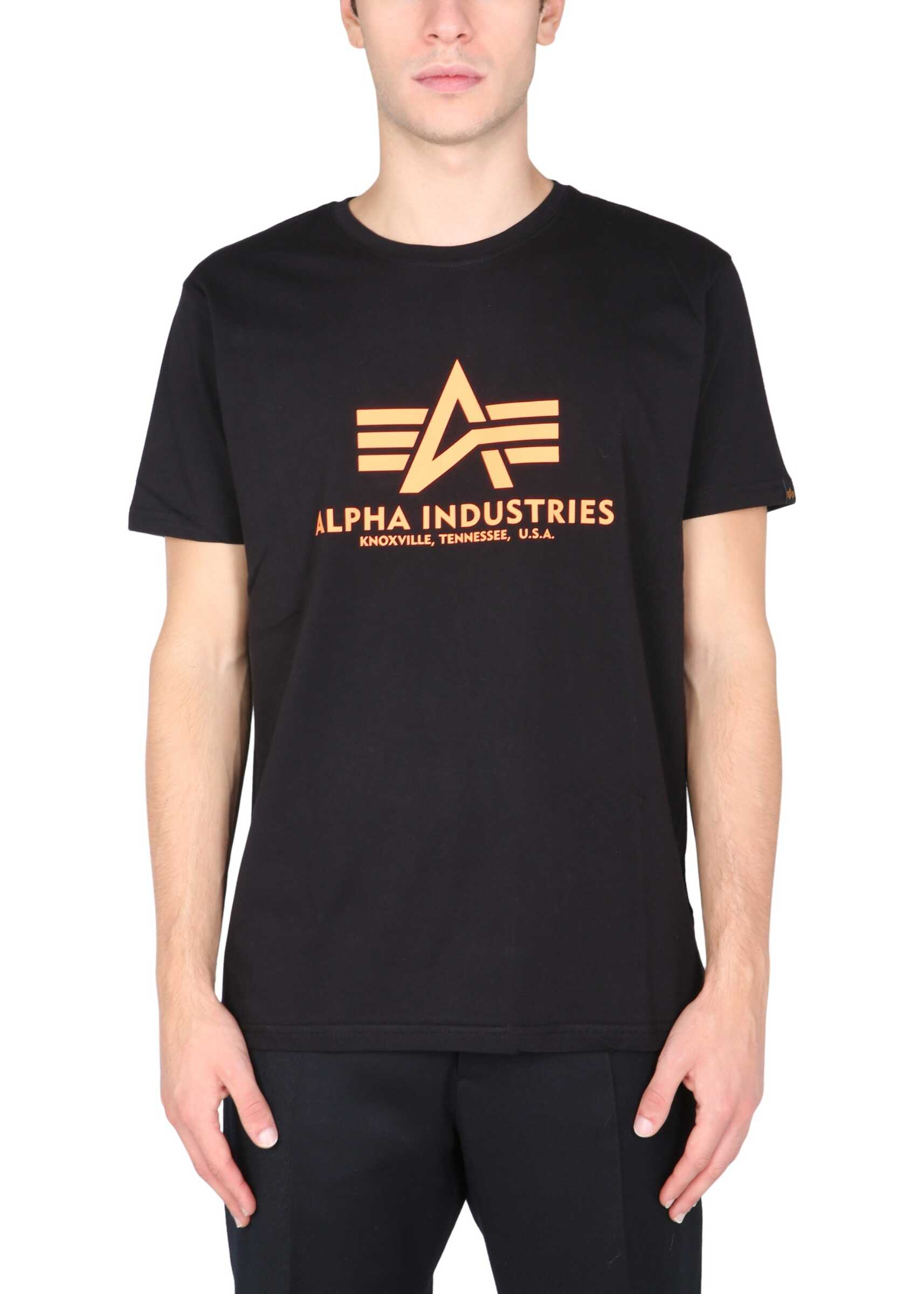 Alpha Industries T-Shirt With Logo Print 100501RP_614 BLACK image0