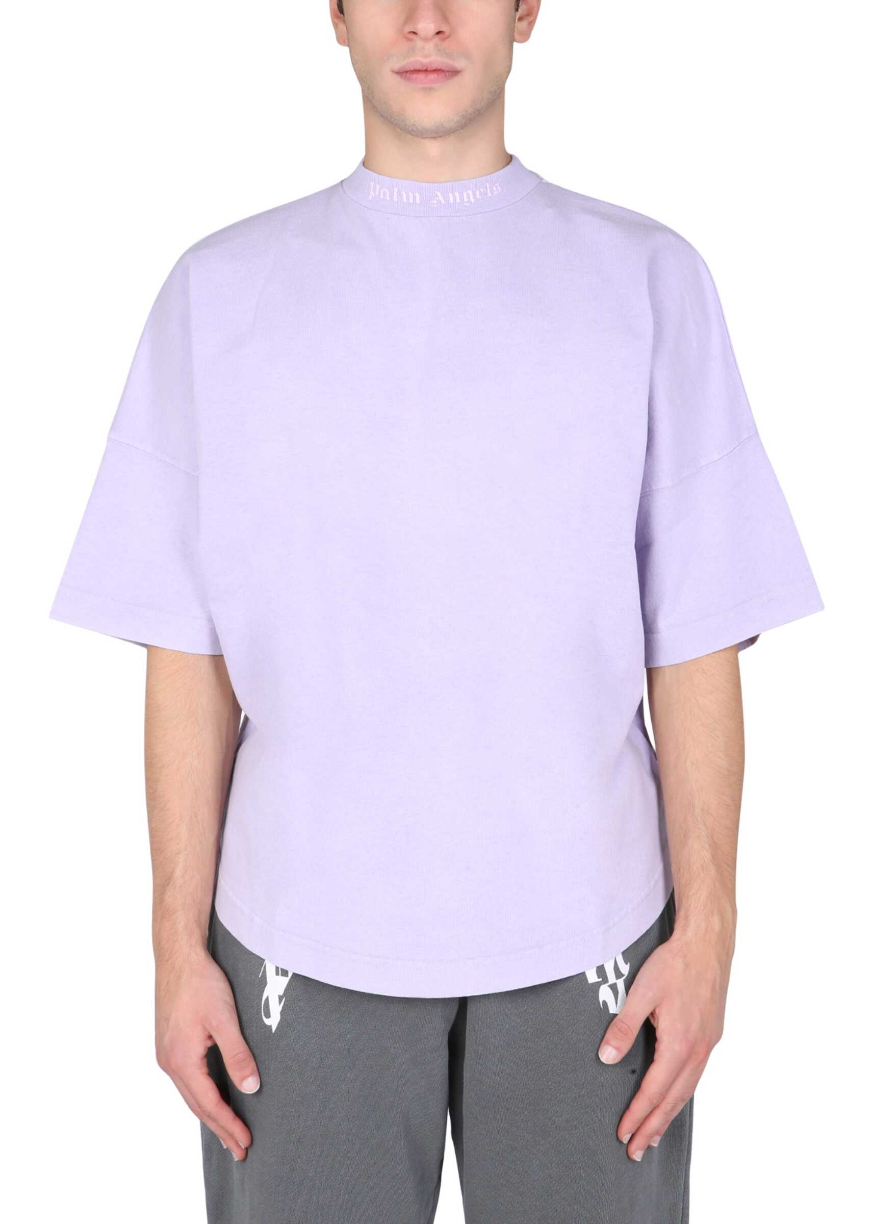 Palm Angels T-Shirt With Doubled Logo PMAA002_F21JER0033601 LILAC image0