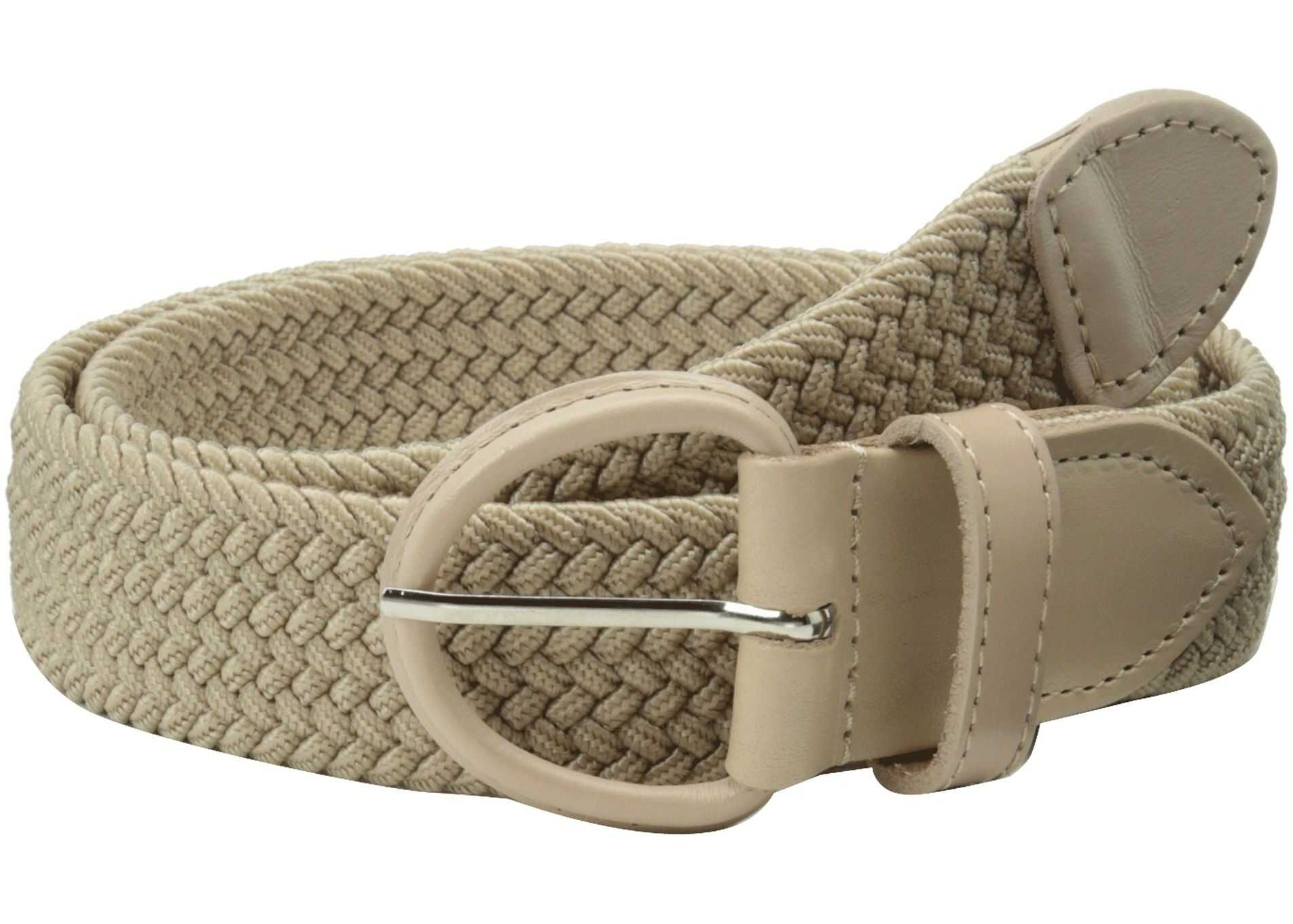 Florsheim Braided Elastic Stretch Belt 35mm Khaki