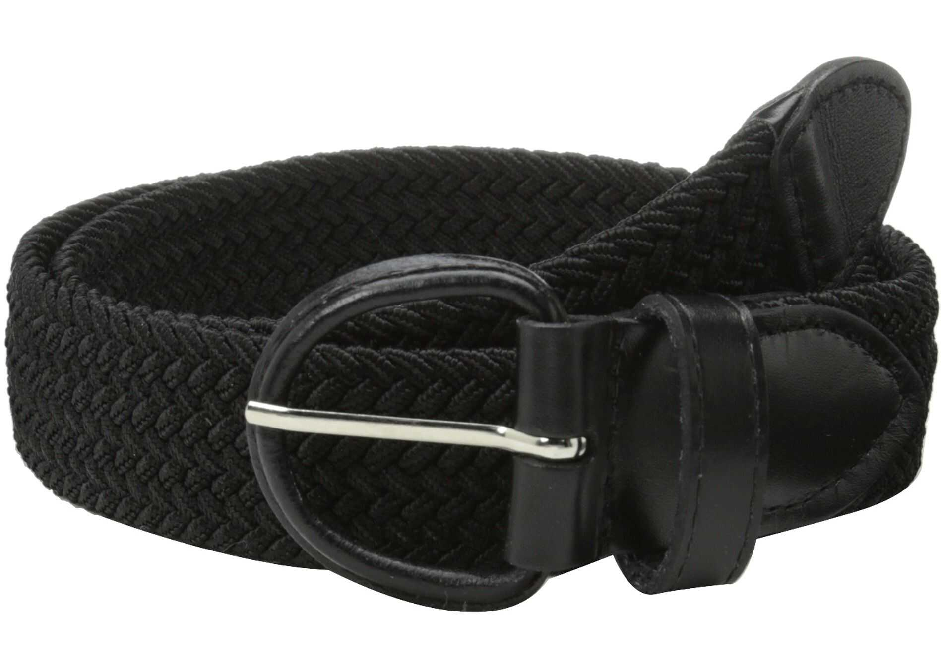 Florsheim Braided Elastic Stretch Belt 35mm Black
