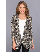 Jachete Open Ruffle Animal Print Jacket Femei